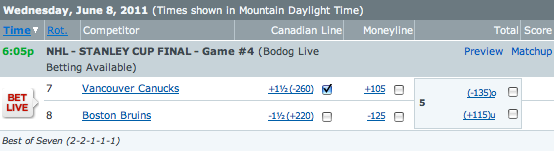 Bruins vs Canucks Betting Odds NHL Stanley Cup Finals